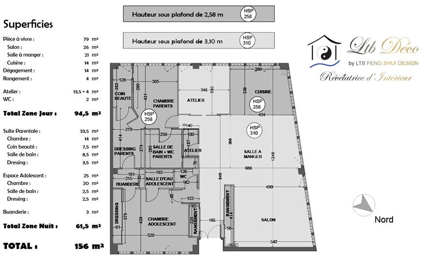 LTB FENG SHUI DESIGN - Plan Amenagement