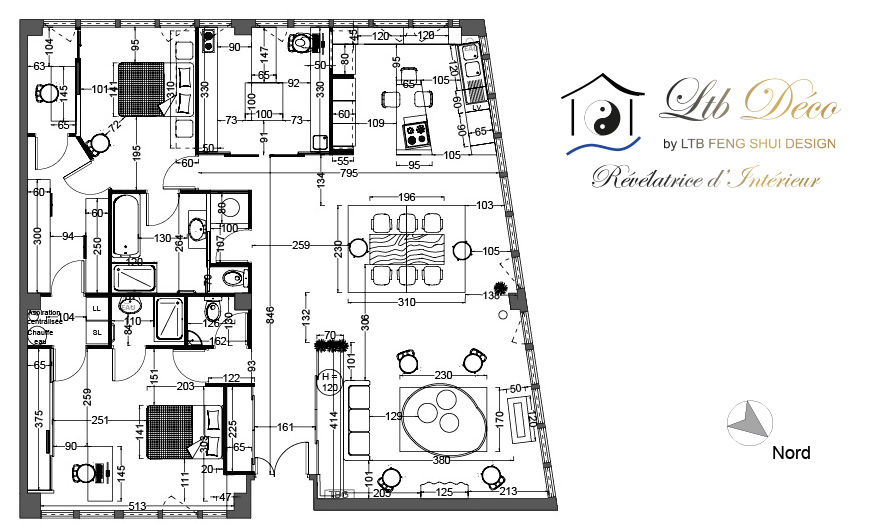 LTB FENG SHUI DESIGN - Plan Agencement