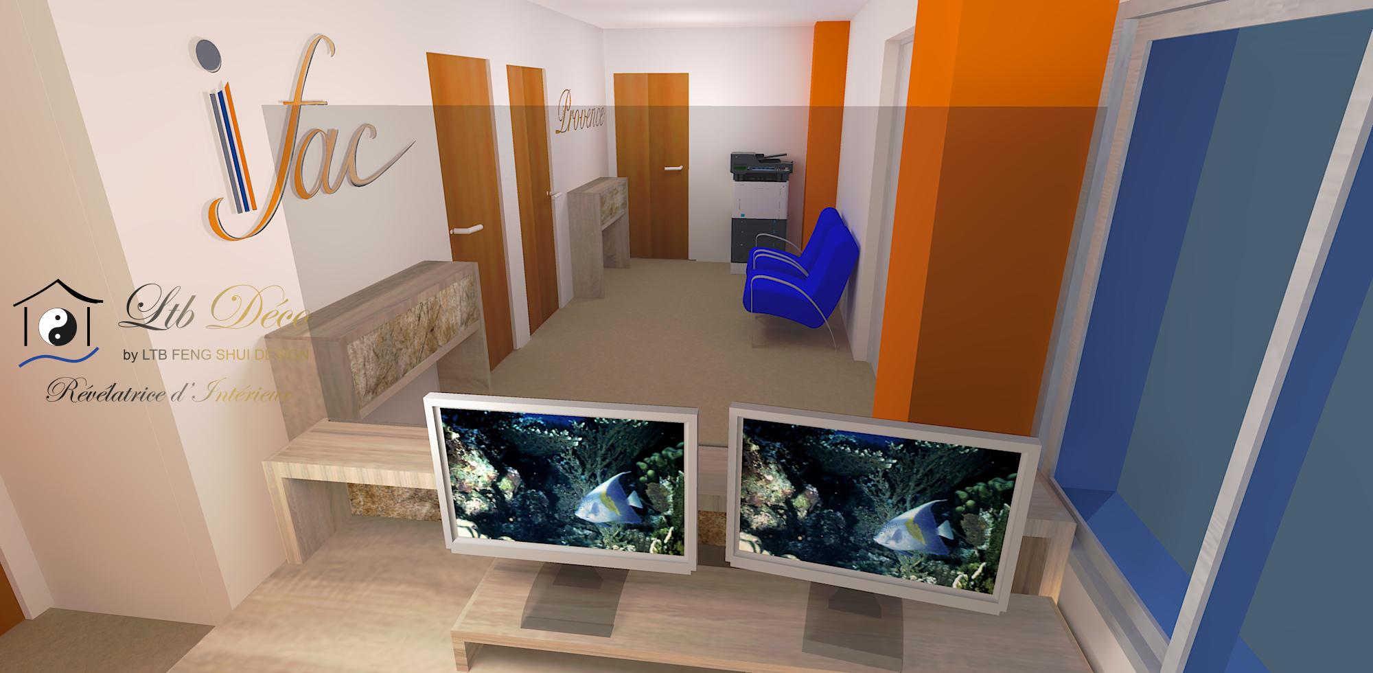Visuel 3D présentation du projet de décoration d'intérieur
